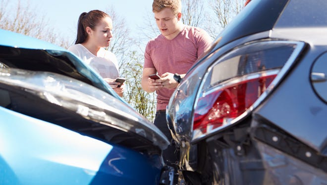 If you're in an accident, first make sure everyone's OK. Then if the vehicle is still operable, move it to a safe place off the road.