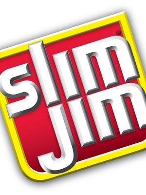 Logo for Slim Jim meat jerky sticks