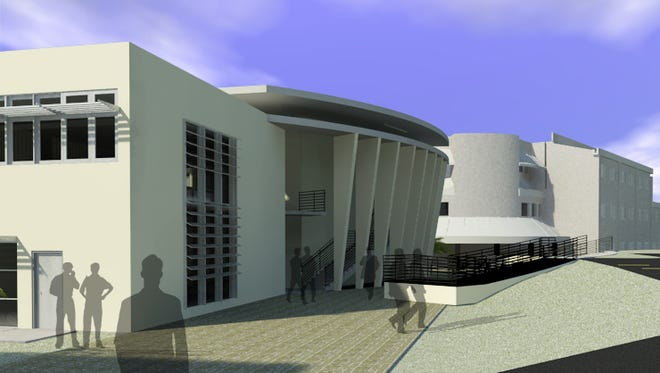 An artist's rendition of the new engineering annex to be built on the University of Guam campus.