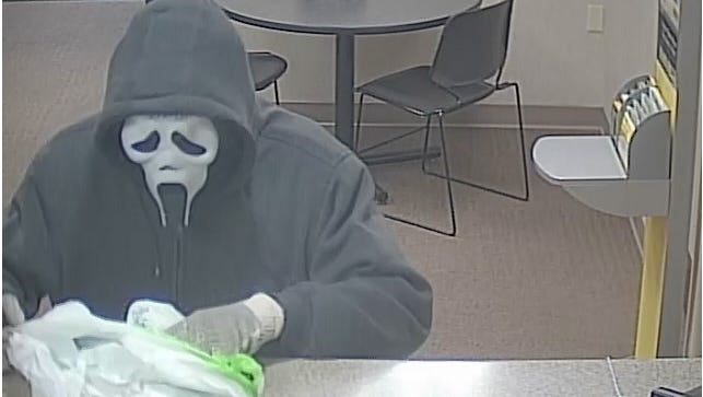 Surveillance footage from North College Hill bank robbery.