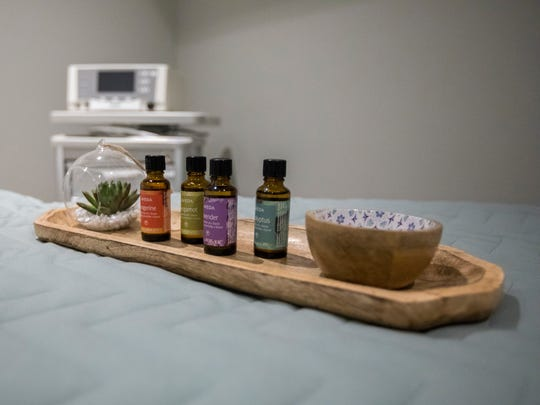 Decorative items that include essential oils for customers to use.