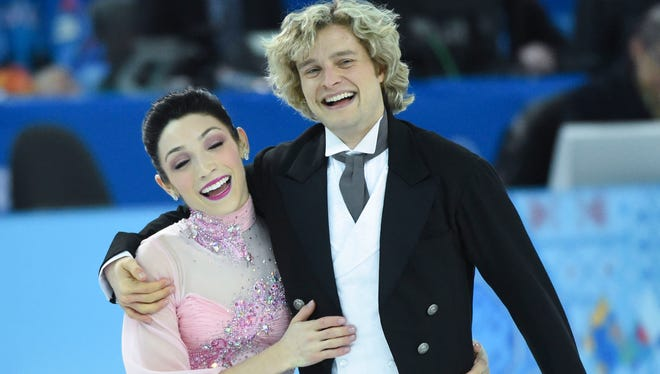 Ice dancers Meryl Davis and Charlie White helped the USA make a big move in the team figure skating at Sochi.