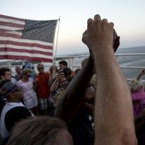 Marchers in Charleston, S.C., on June 21, 2015.