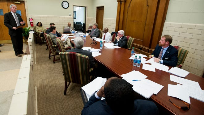 A work session of the Montgomery City Council at city hall in Montgomery, Ala. on Tuesday January 5, 2016.