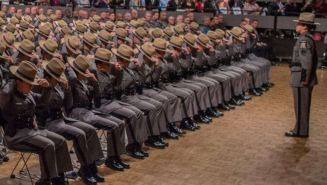 More than 200 Troopers graduated from the New York State Police Academy's Basic School on October 13, 2016.