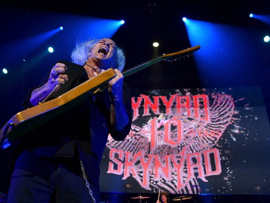 Rickey Medlocke of Lynyrd Skynyrd performs onstage
