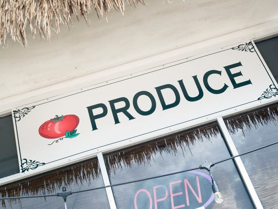 Fresh produce is available at places like the East