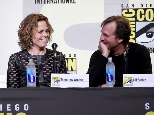 Sigourney Weaver (left) and Bill Paxton attend the