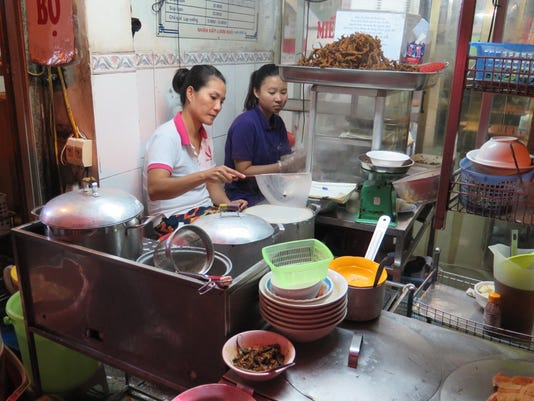 Street food isn't as scary on a guided food tour in Hanoi