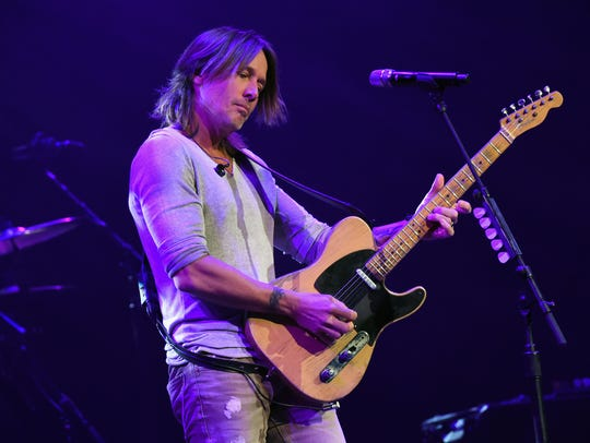 Keith Urban performs for the Country Rising Benefit