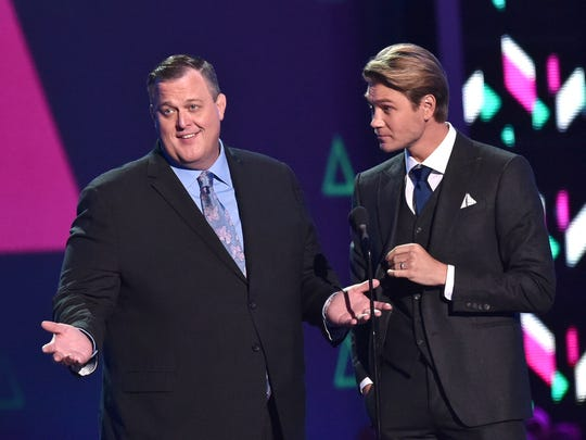 Billy Gardell (left) and Chad Michael Murray appear