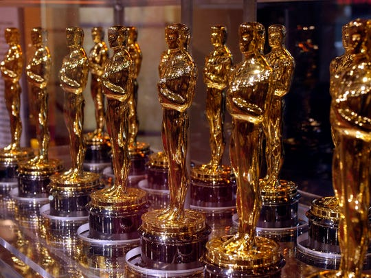 """Oscar statuettes that will be presented to winners at an Academy Award presentation are displayed at """"Meet the Oscars"""" in the Times Square Studios on February 12, 2007. (Richard B. Levine/Sipa USA/TNS)"""