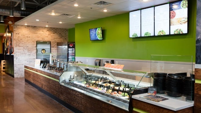 The Saladworks, under new ownership, is updating its stores and adding menu items. This is a prototype location in Newtown, Pennsylvania.