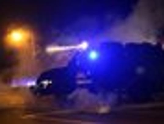 Tactical trucks in Ferguson