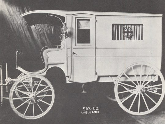 This 1891 ambulance was one of the first built by Cincinnati carriage builders Sayers and Scovill Co.