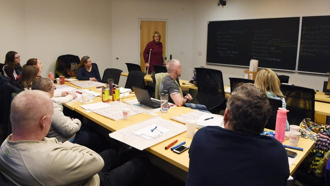 Teachers in the Pine Plains Central School District participate in a professional development program at Bard College.