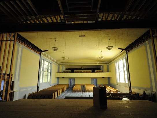 In 2010: Restoration work progresses at the Lear Theater