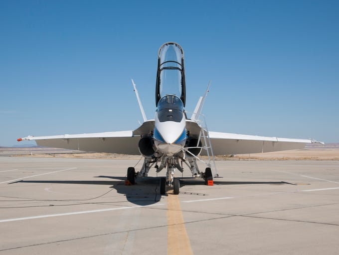 NASA's F/A-18 research aircraft, seen here, will produce