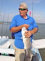 The redfish population in Mesquite Bay has been enhanced by the reopening of Cedar Bayou in 2014.