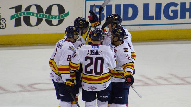 The Colorado Eagles scored a combined 12 goals in two games over the weekend to go 2-0 against Norfolk.