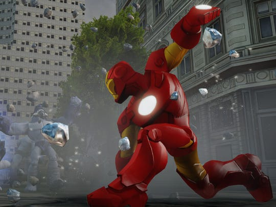 """Iron Man is available for use right off the bat as part of the """"Disney Infinity: Marvel Super Heroes"""" starter pack."""