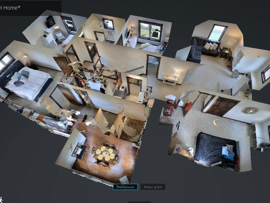 "The Matterport also creates a ""doll house"" view of"