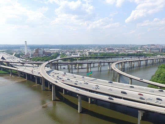 Aerial View of the I-95 Deck Rehabilitation and Joint Modification Project completed by Wagman Heavy Civil.