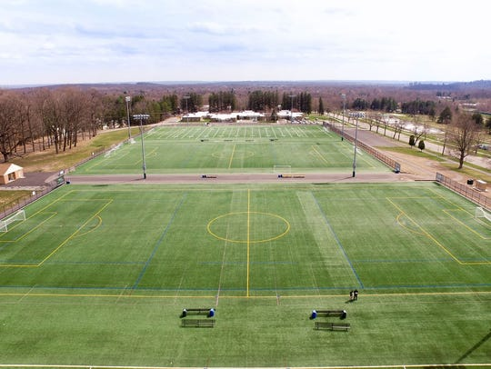 Athletic fields at Central Park of Morris County in