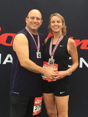 Lisa Lynch, right, and Jeff Curcio