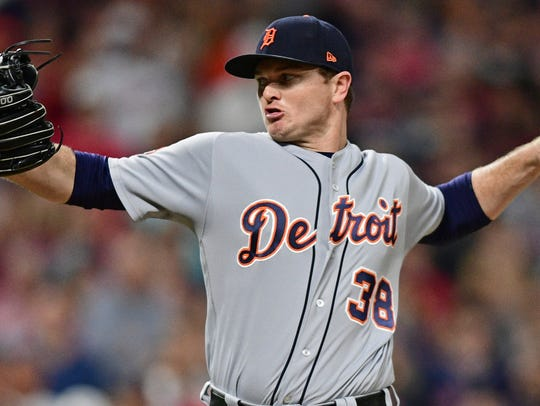 Tigers pitcher Justin Wilson delivers in the eighth