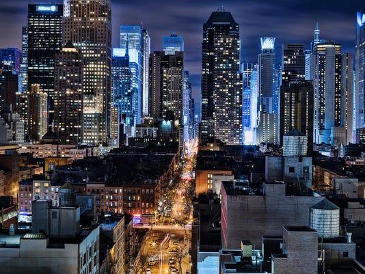 Tischler Photo Midtown Looking East by Michael Tischler