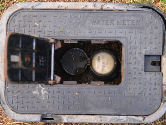 Jim and Kathy Bacsik of Baytree got a surprise when they received a $1,488 water bill in November for 137,000 gallons of water usage from the city of Cocoa. Their usual usage has been averaging 3,000 gallons a month. Photo if their water meter.
