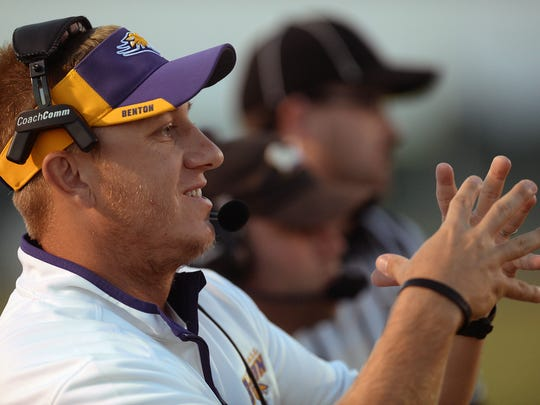 Benton head coach Reynolds Moore