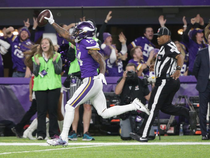 2017: Stefon Diggs scores a 61-yard touchdown in the
