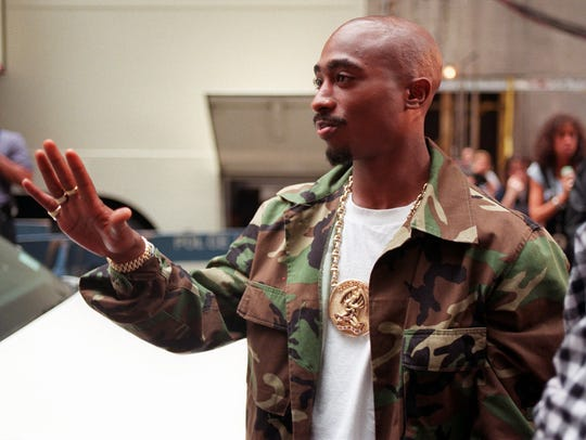 In this Sept. 4, 1996 file photo, Rapper Tupac Shakur