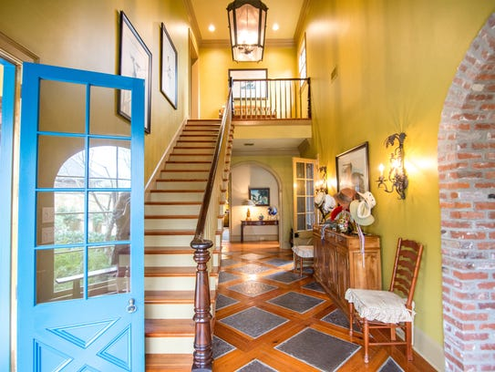 A brightly colored interior gives the home a welcoming