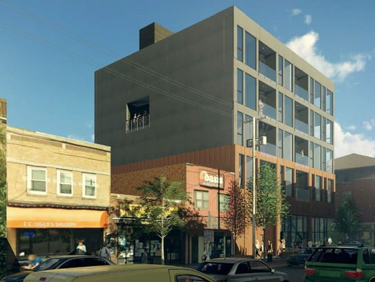 A preliminary rendering shows the north side of the