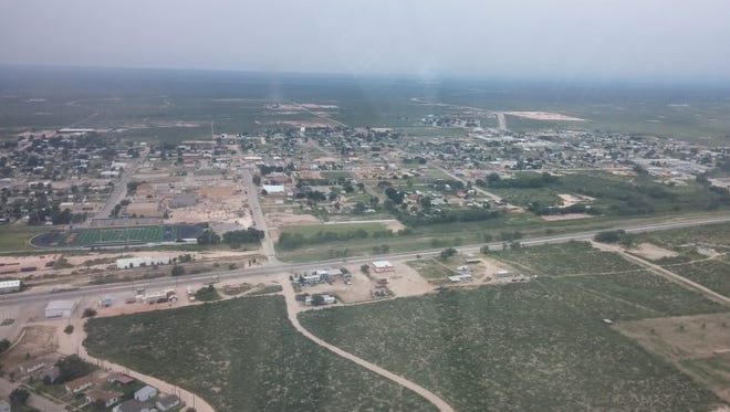 A bird's eye view of Jal, in southeastern New Mexico.