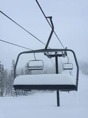 Hoodoo Ski Area is seen after a fresh dump of snow.