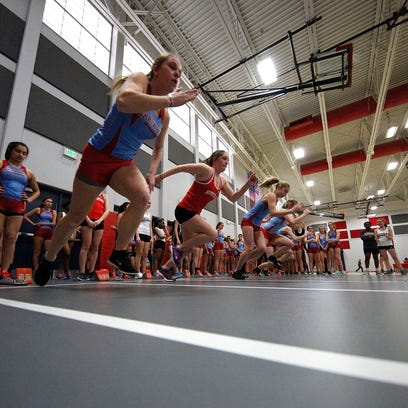 Homestead Tri Girls Indoor Track and Field Meet