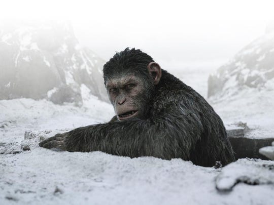 "Andy Serkis in "" War for the Planet of the Apes."""