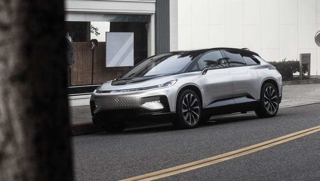 Faraday Future's FF 91 EV will be built at a leased factory in Hanford, Calif., beginning sometime in 2018.