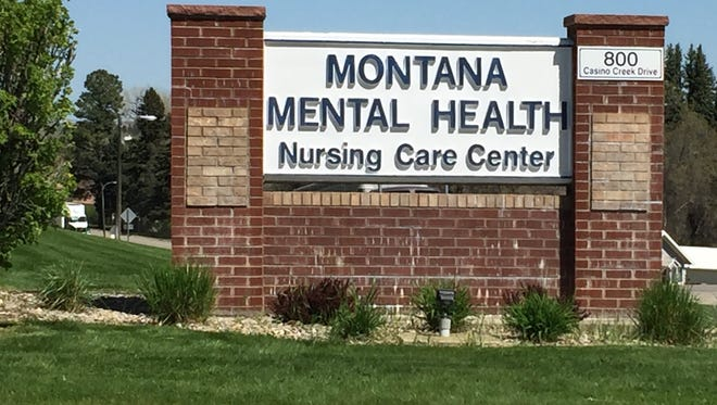 The sign at the entrance of the Montana Mental Health Nursing Care Center in Lewistown.