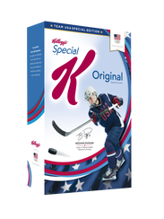 Meghan Duggan appeared on boxes of Special K in the