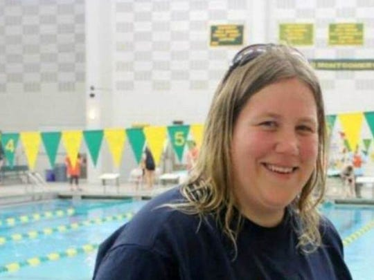 Stephanie Johnson teaches swimming at the Shimon & Sara Birnbaum Jewish Community Center, and coaches the JCC's Special Olympics swimming team.