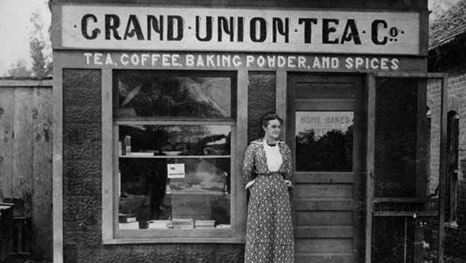 This early 20th century photograph of a Farmington tea shop will be reproduced at life-size scale for a facade on a vacant space at 201 E. Main St.