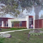 Courtesy photo An architect's rendering of the new Central Fire Station in Meridian Township.