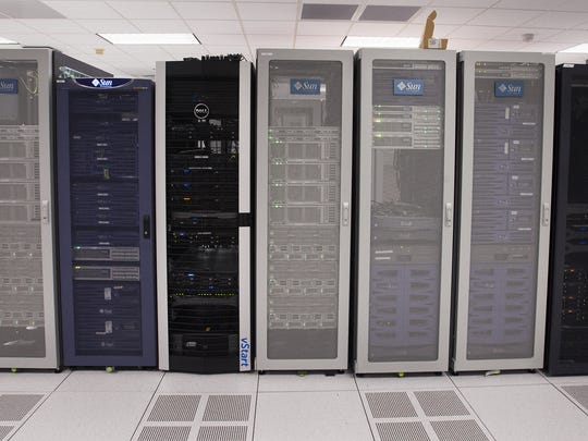 A server room at the Air Force Life Cycle Management Center at Maxwell Gunter Annex in Montgomery, Ala. on Thursday July 30, 2015.