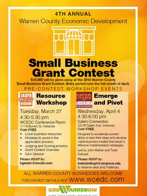 The 4th annual Warren County Economic Development Corporation small business grant contest will award $10,000 in prize money this year.