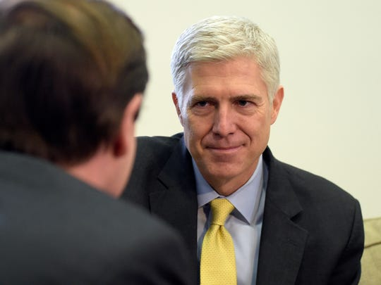 Supreme Court nominee Neil Gorsuch meets last month